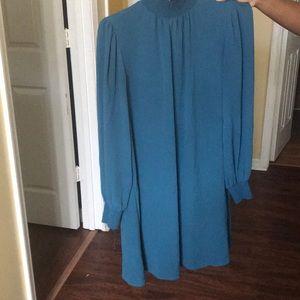 Turtleneck Mesh Dress